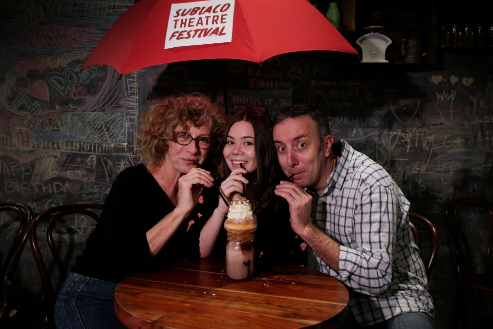 From left: Nicola Bartlett and Amy Johnston from Moving on Inc and Damon Lockwood from I (honestly) Love You.