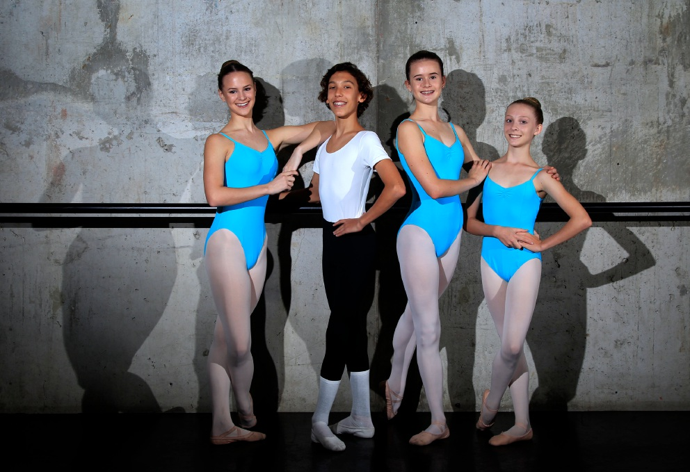 Angel Wright-Warner (15), Tyler Lindsay (13), Milla Brinsden (14) and Emma Holder (14). Picture: Marie Nirme d452703