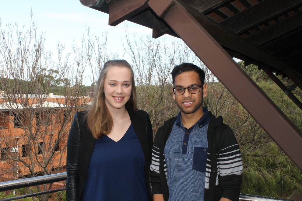 Victoria Barker and Sidharth Savadia are heading to UCLA for a leadership development conference.