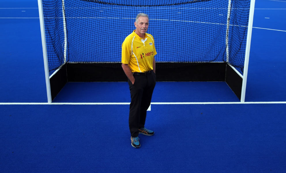Hockey umpire Murray Grimes. Picture: Martin Kennealey.
