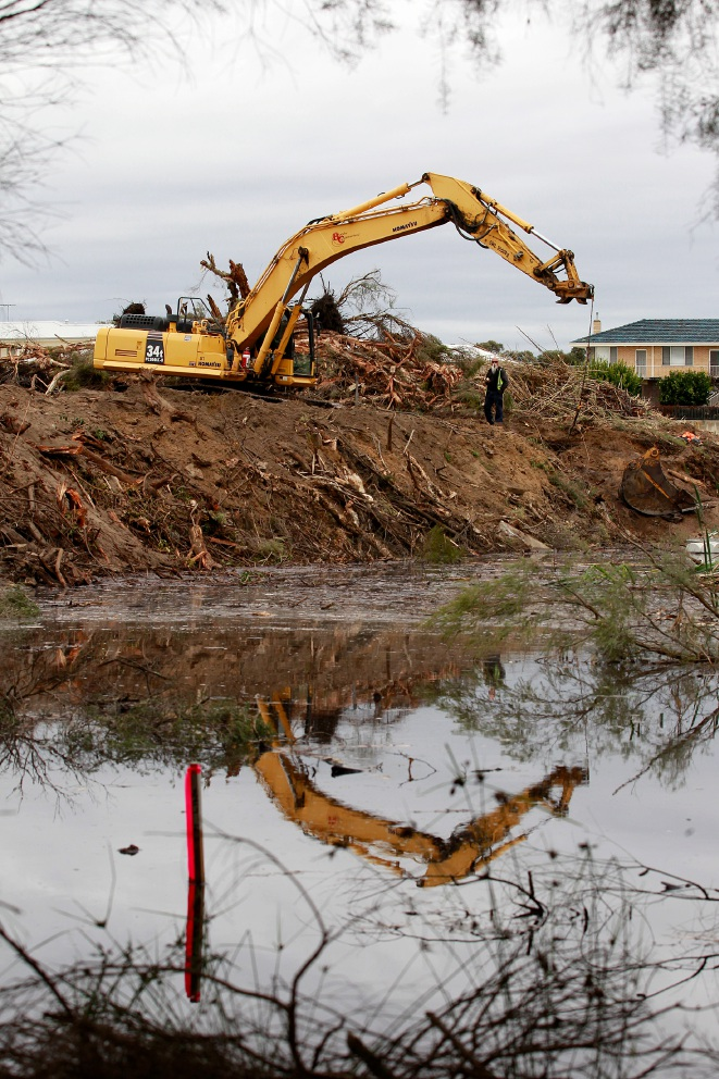 Bulldozers started clearing land abutting the Eric Singleton Bird Sanctuary last week. Picture: Marie Nirme