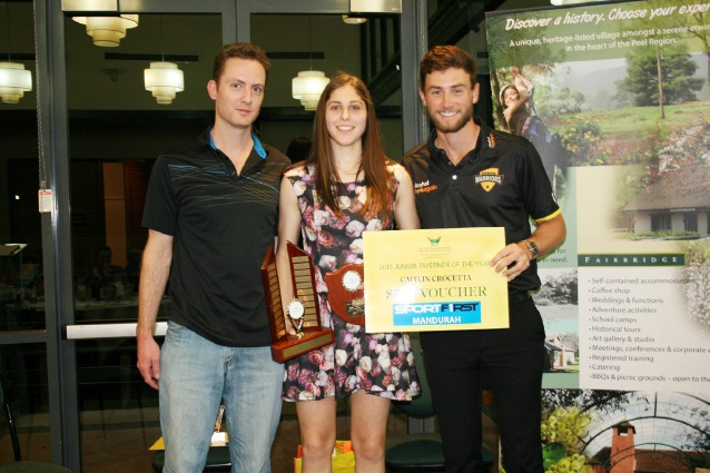 Wade Felton, junior award winner Caitlyn Crocetla and WA cricketer Sam Whiteman at last year's event.