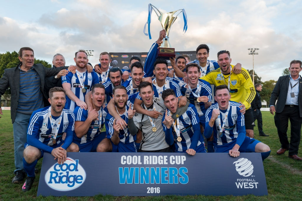Cool Ridge Cup winners Floreat Athena face A-League club Melbourne City in the FFA Cup tonight. Picture: Vince Caratozzolo