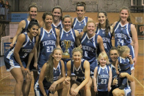 The Willetton Tigers pose with the Community Newspaper Group Cup. Picture: June Halliday.