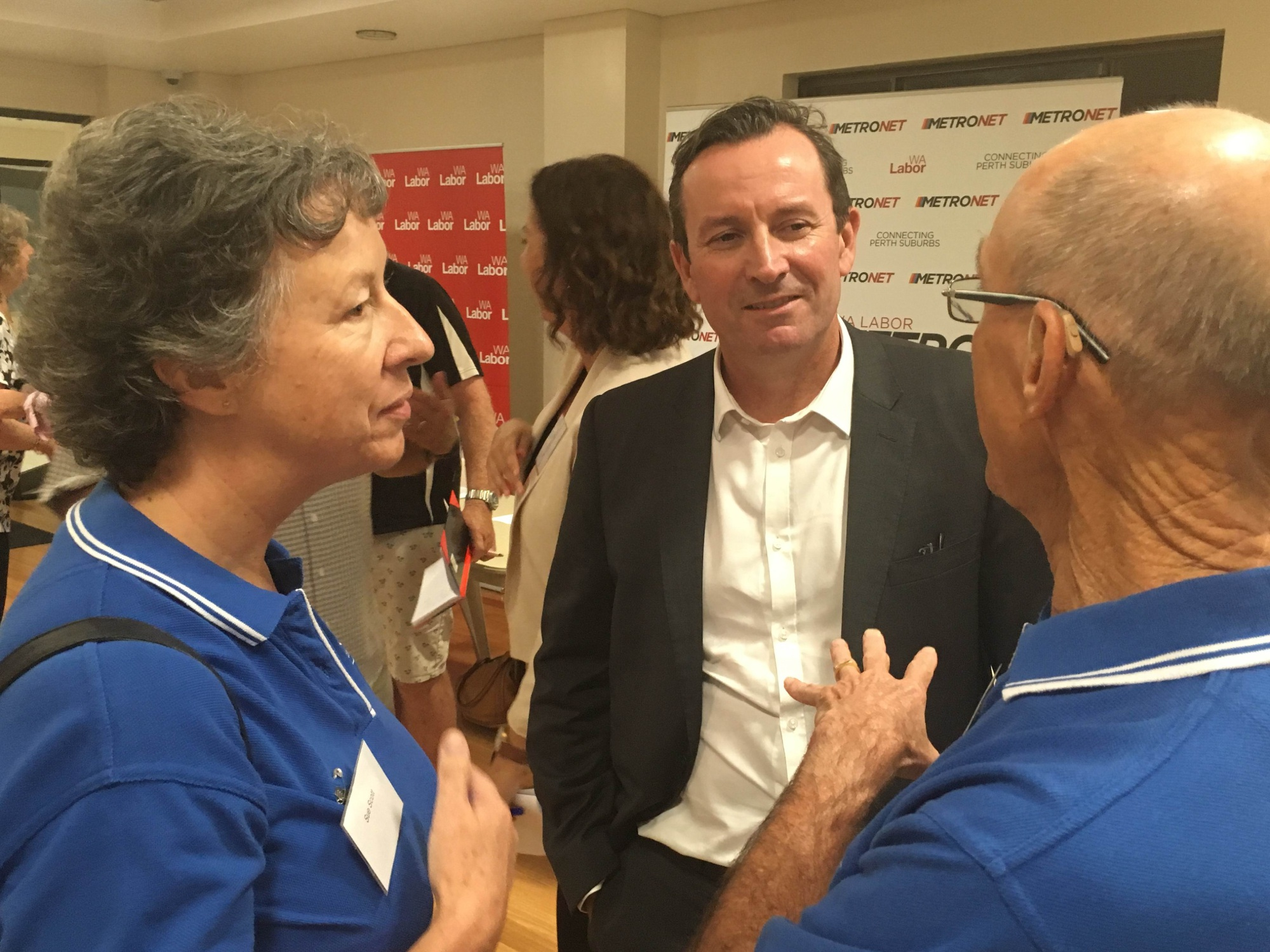 Opposition leader Mark McGowan at the City of Belmont Metronet forum on Monday night.