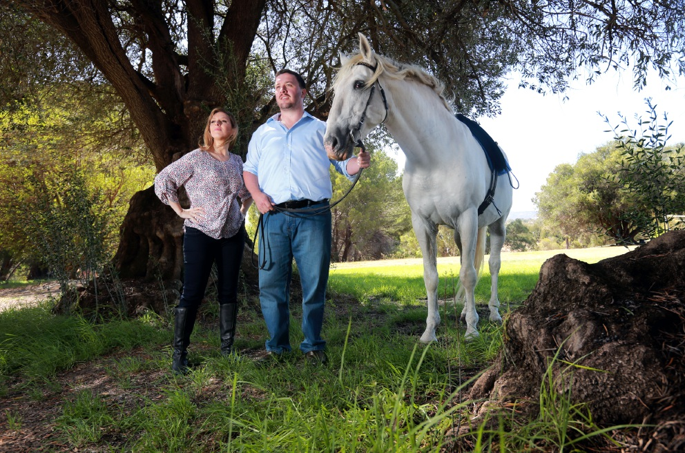 Emma Pearson and Wade Kernot at The Riding School for the Disabled, St Leonards, West Swan. Picture: David Baylis d451387