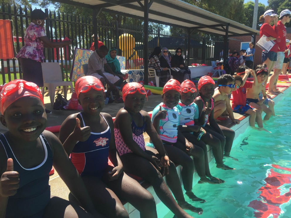Seventeen cultures were represented in the swimming program at Mirrabooka Senior High School.