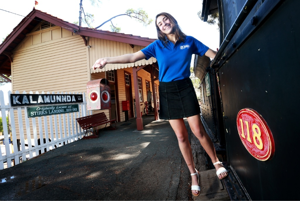 Emma Wignell at the Kalamunda History Village. Photo: David Baylis.