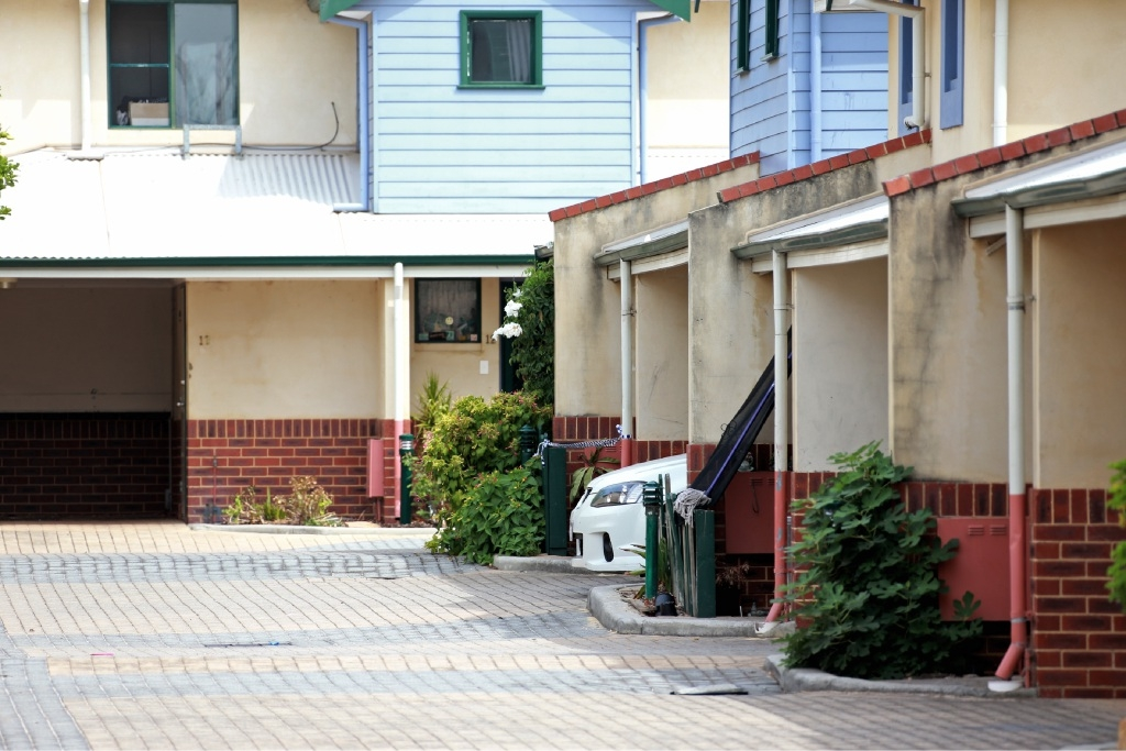 The Cooper Street units in Midland where a woman's body was found yesterday. Picture David Baylis