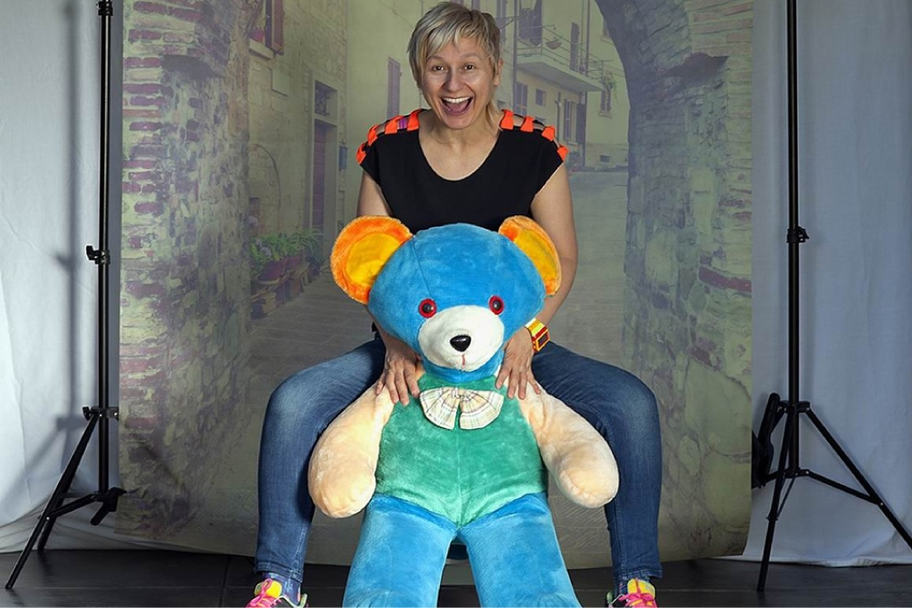 Tania Visosevic with Sideshow Ted. Picture: DeeDee Noon