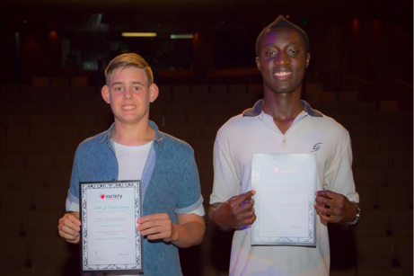 Variety WA scholarship recipients Thomas McHugh and Kenneth Opoku.