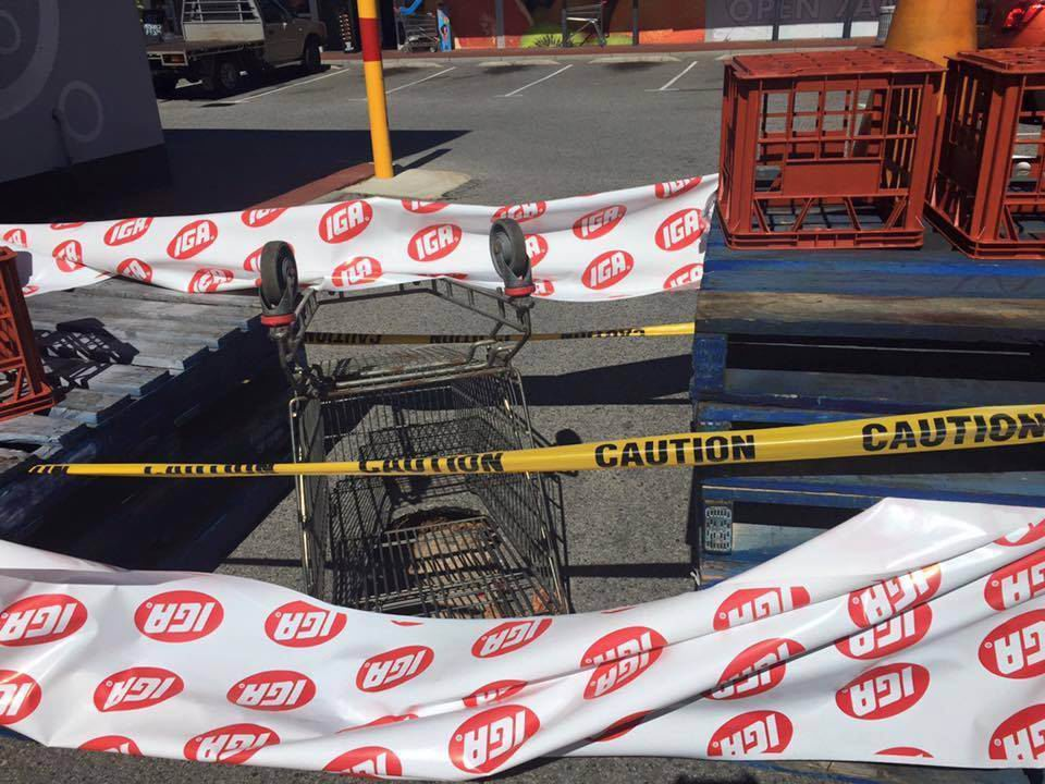 Sinkhole swallows trolley in Safety Bay