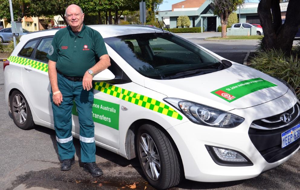 St John Ambulance Community Transport volunteer Bob Hudson.