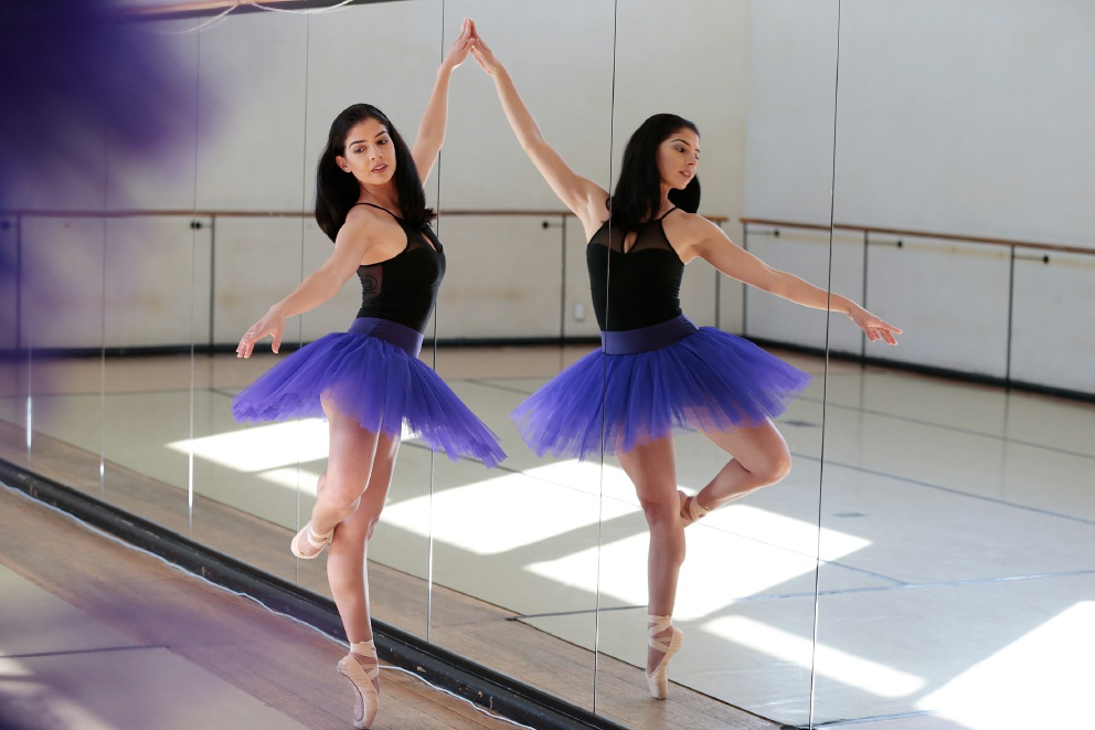 Kiara Blair is making an all-out attempt to carve a ballet |career for herself. Picture: Andrew Ritchie d456816