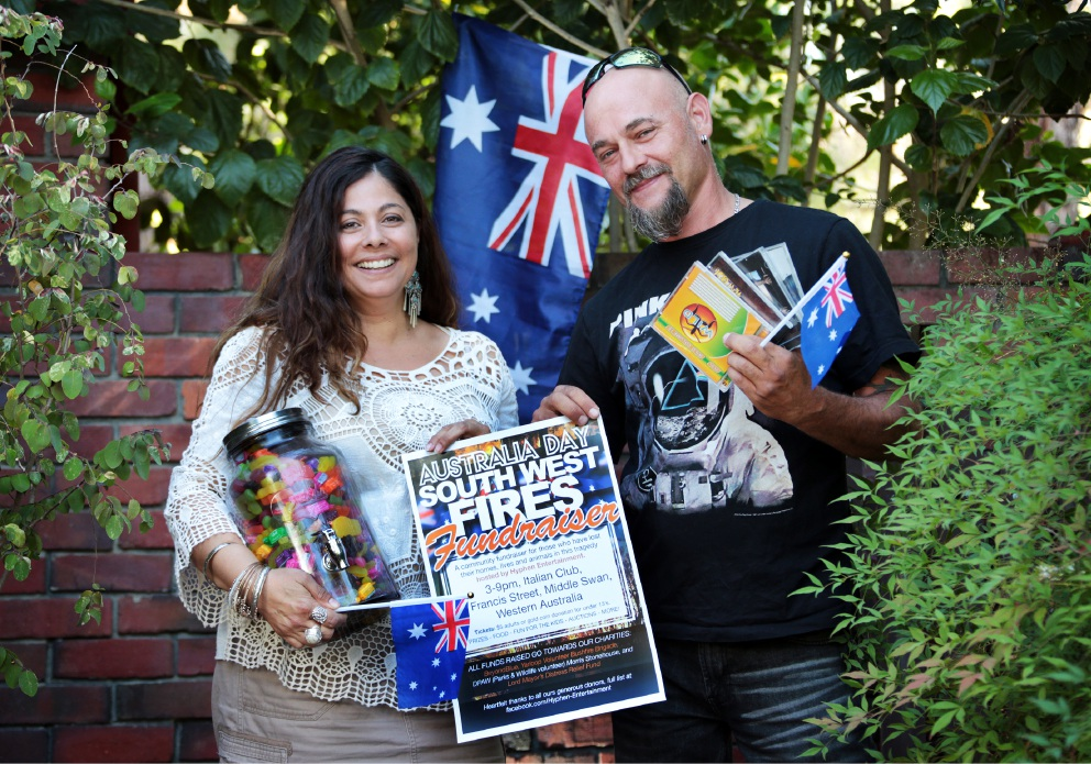Ann Carameli and Ernst Hanisch of Gooseberry Hill are arranging a fundraiser for the South West fires victims.