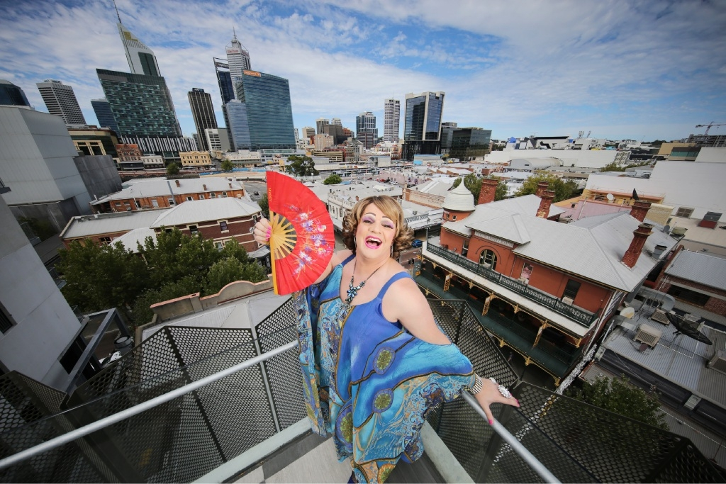 Dolly Diamond (aka Michael Dalton) will bring her show Dolly Diamond: Alive and Intimate to Fringe World next month. Picture: Andrew Ritchie. d447263