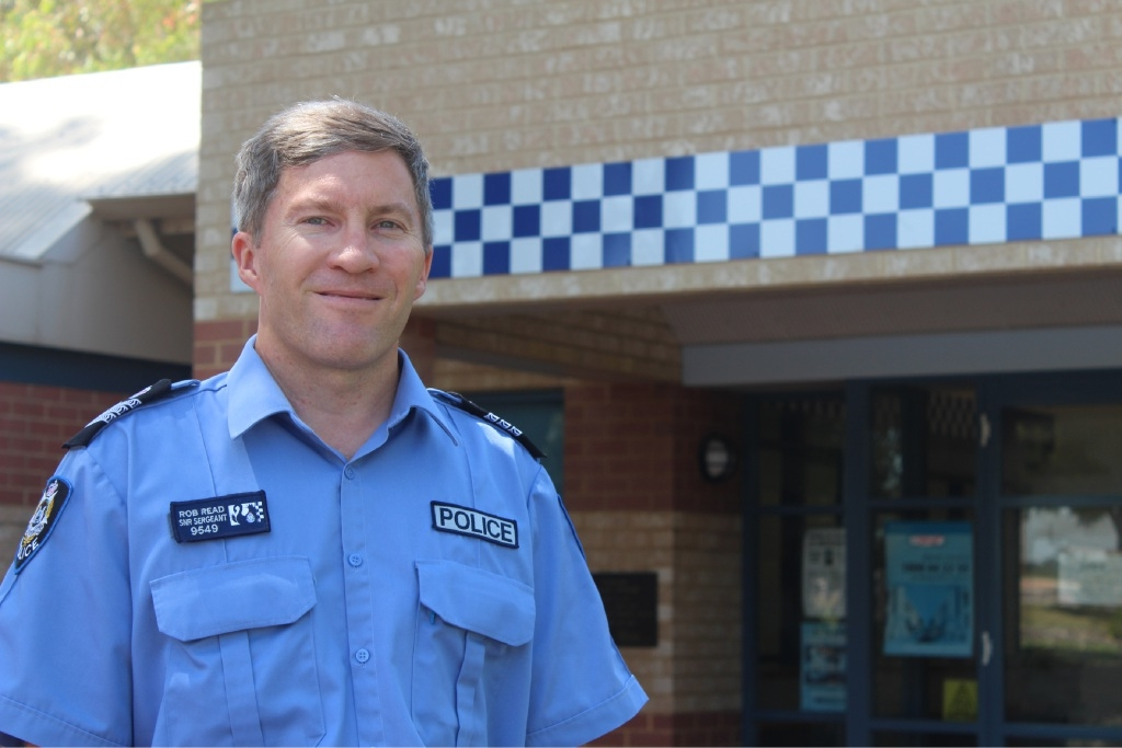 Out to help: Kwinana's new officer-in-charge Rob Read.
