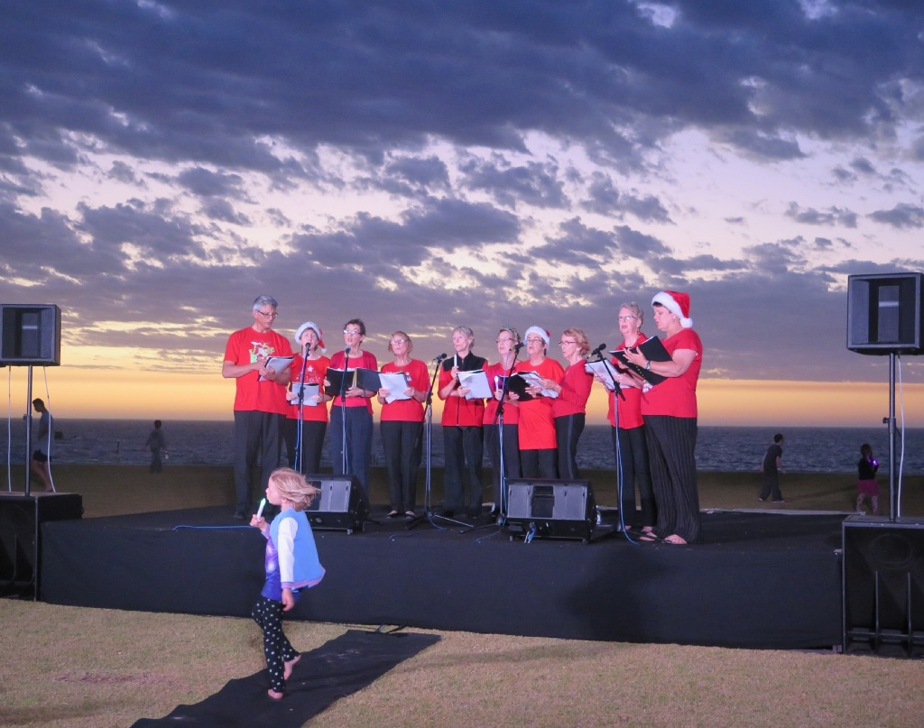 The Free Spirit Choir at the Carols by the Sea in Alkimos.