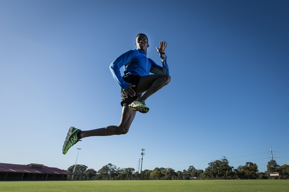 Flight confirmed: Peter Bol.  Picture: Will Russell  www.communitypix.com.au   d439766