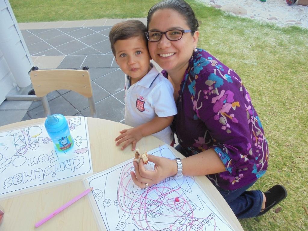 Nicolas Arica (18 months) with mum Mariela.