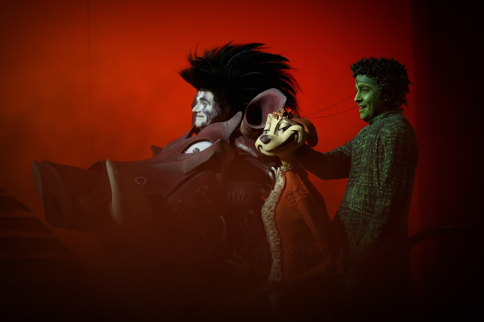 John Xintavelonis as Pumbaa and Jamie McGregor as Timon. Picture: Andrew Ritchie