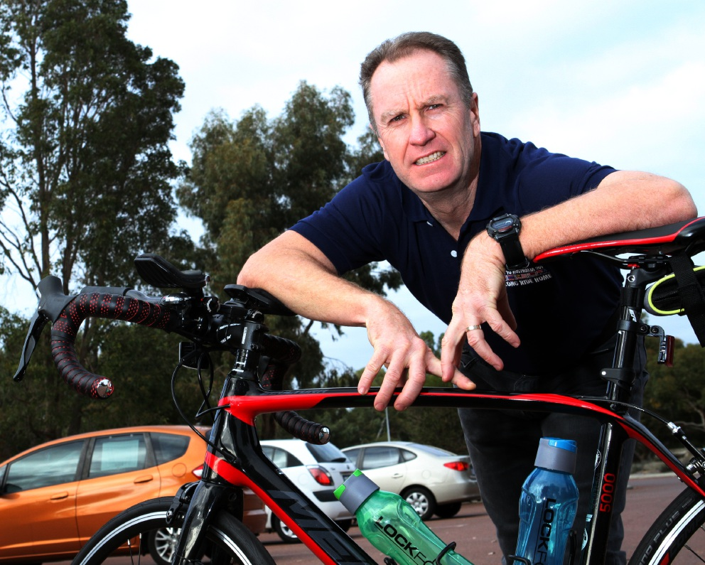 Former SAS officer Matt Brown will join a ride from Thailand to Singapore for charity. Picture: Robin Kornet www.communitypix.com.au   d456500