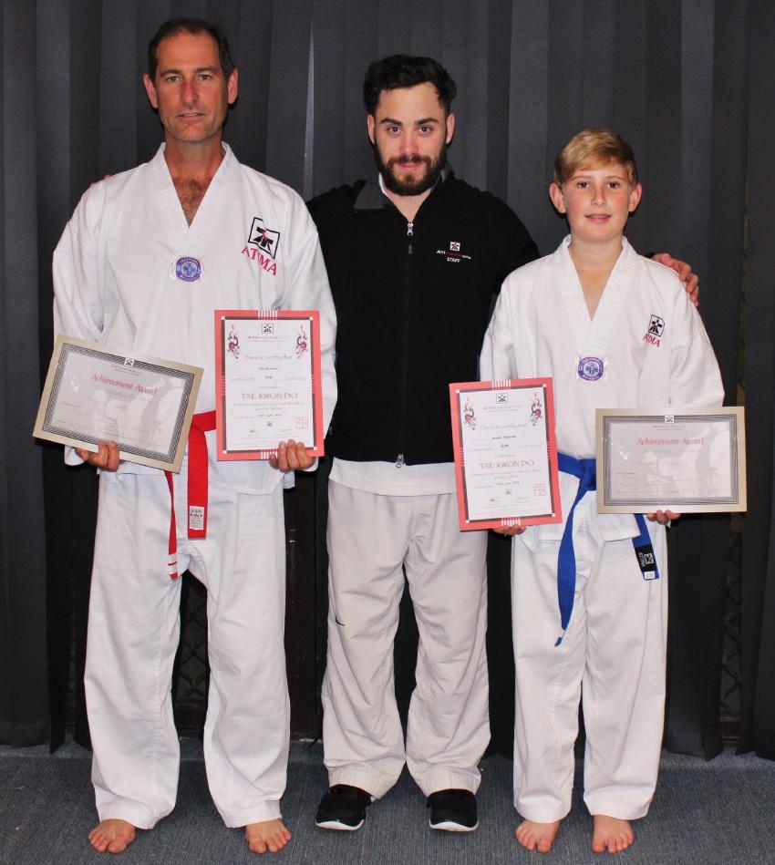 Patrick Jones, instructor Cameron Sutton and Bradley McKenzie.