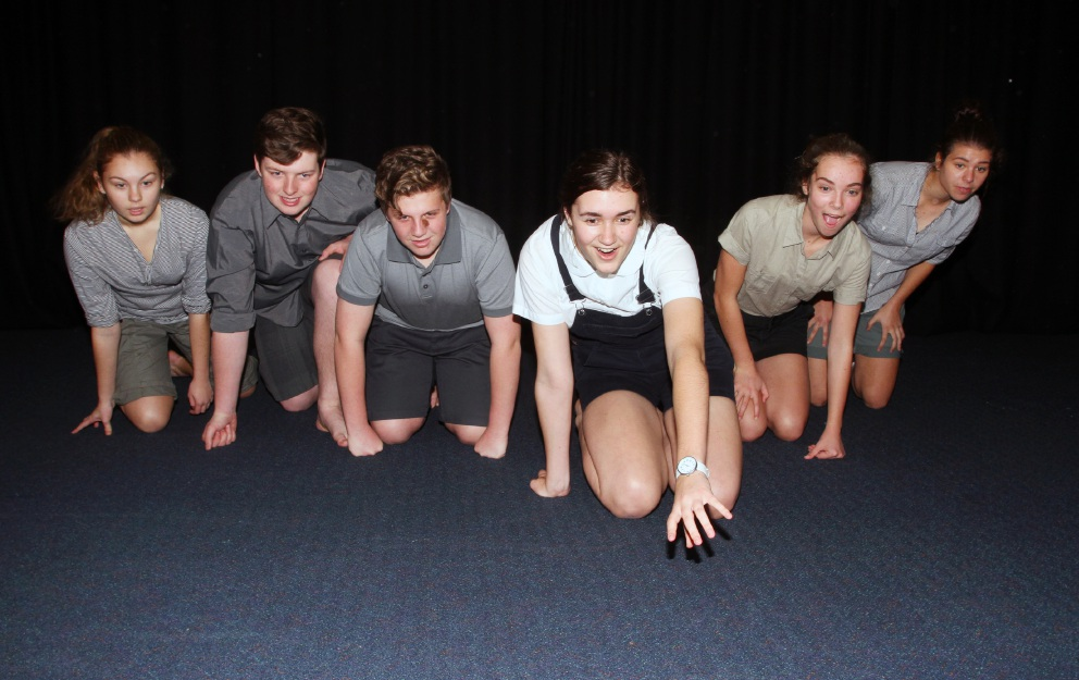 Students rehearse for Stories for Suburban Road. Picture: Robin Kornet        www.communitypix.com.au   d457070