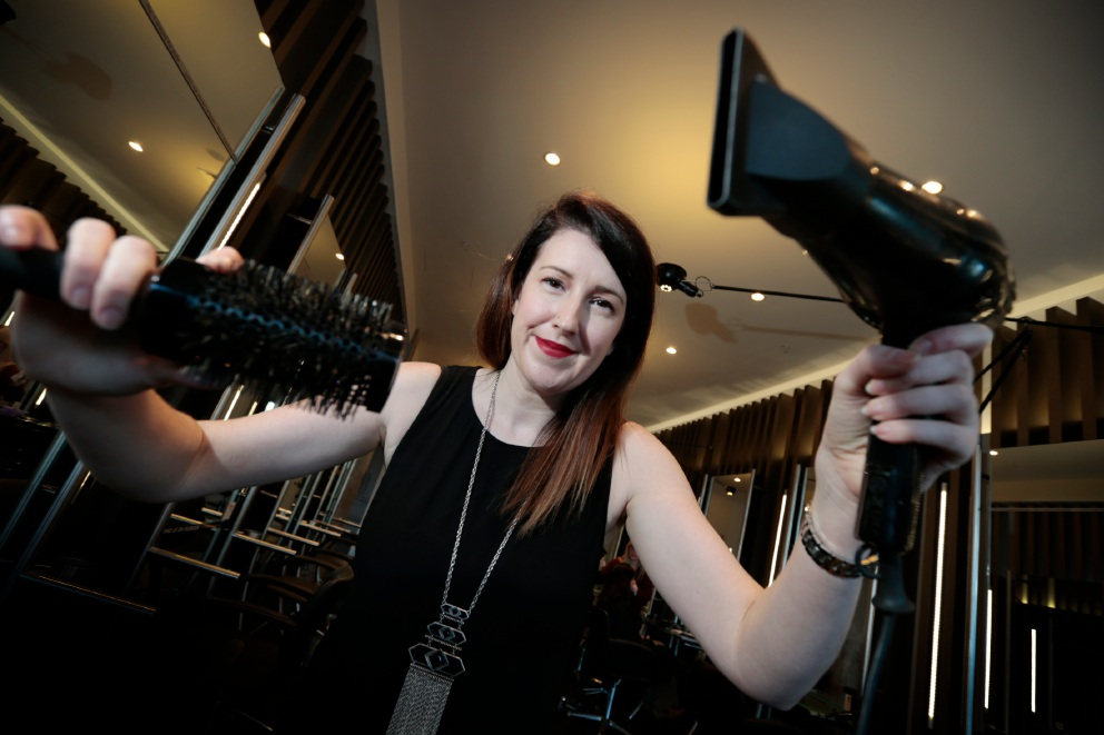 Perth fashion industry up-and-comer Pamela Flemming (pictured) came from the UK to take on a major role in the Toni & Guy Subiaco salon headed-up by Perth fashion industry icon Tracey Laing. Picture: Andrew Ritchie
