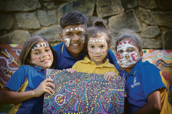 Alicia Bynder (9), Liam Hayden (10), Kiara Bynder (4) and Leonie Bynder (11). Picture: Will Russell  d452006
