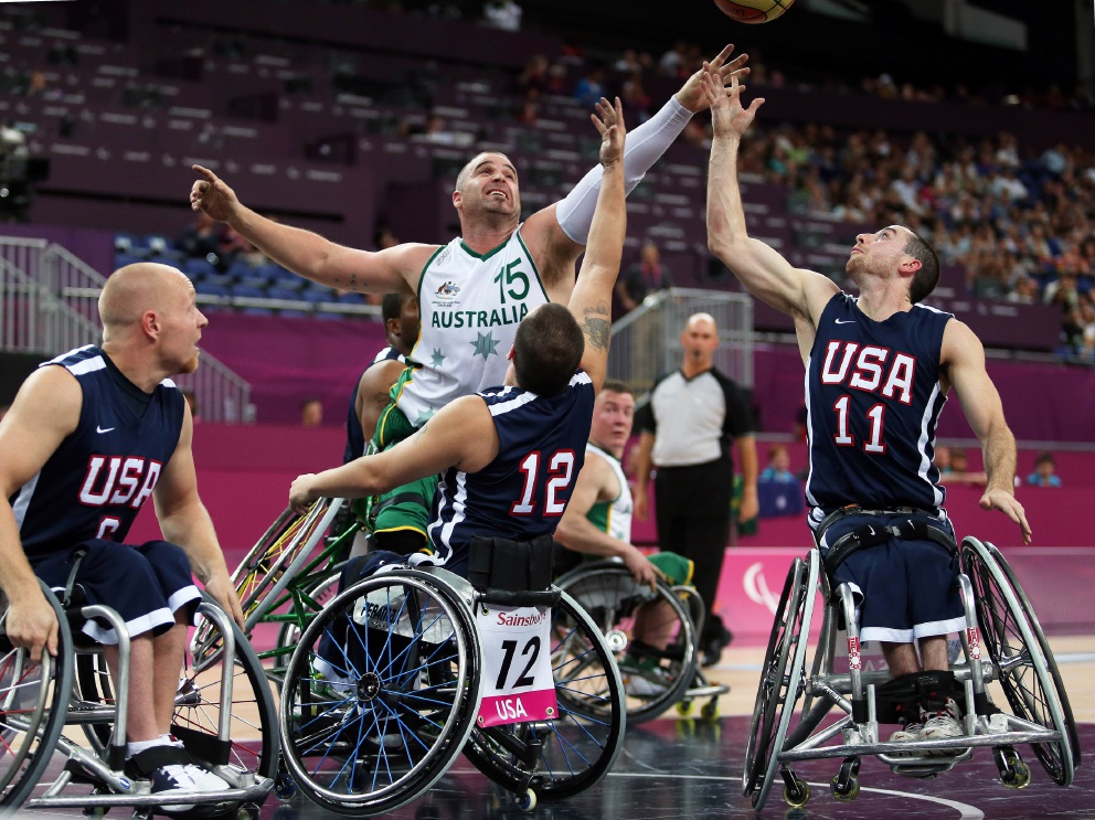 Brad Ness competing against the United States. Picture: Australian Paralympic Committee