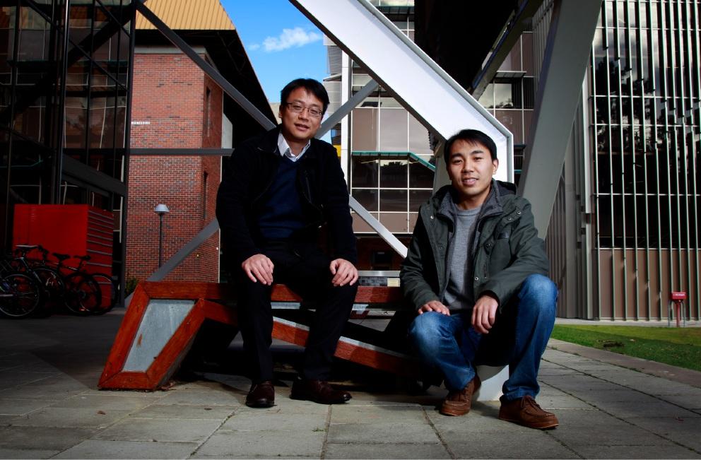 Jun Li and Kaiming Bi are finalists in the 2016 Premier's Science Awards. Picture: Marie Nirme ww.communitypix.com.au   d457361