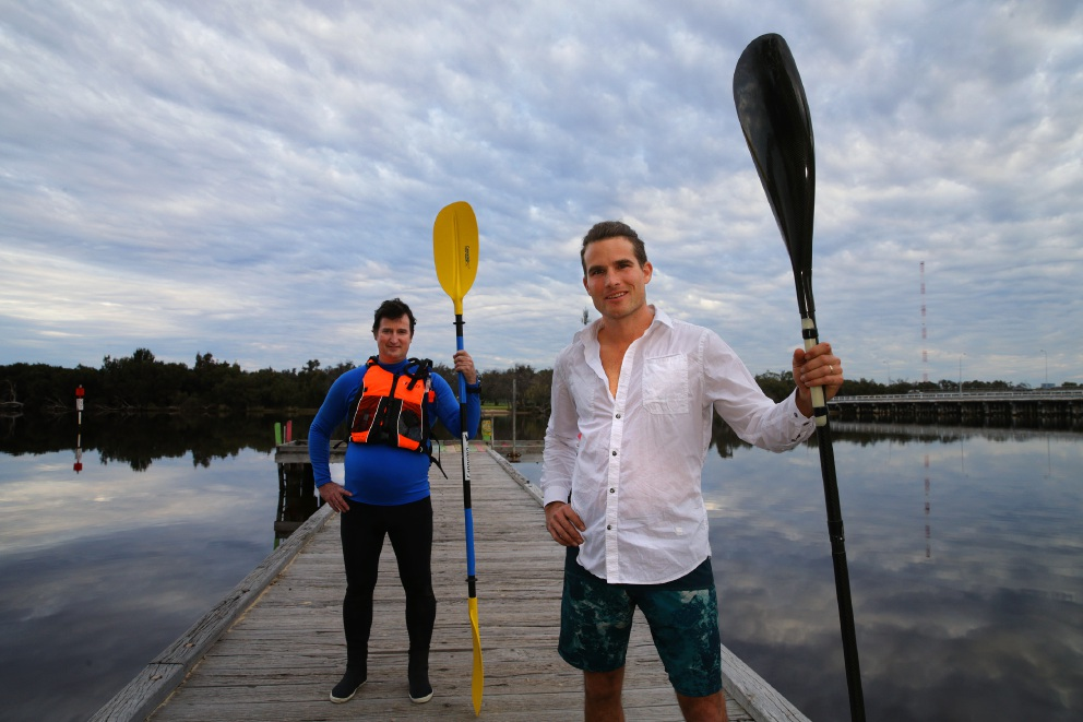 Peter Newbury and Bobby Bense get ready for this |weekend's Avon Descent. Picture: Martin Kennealey d457347