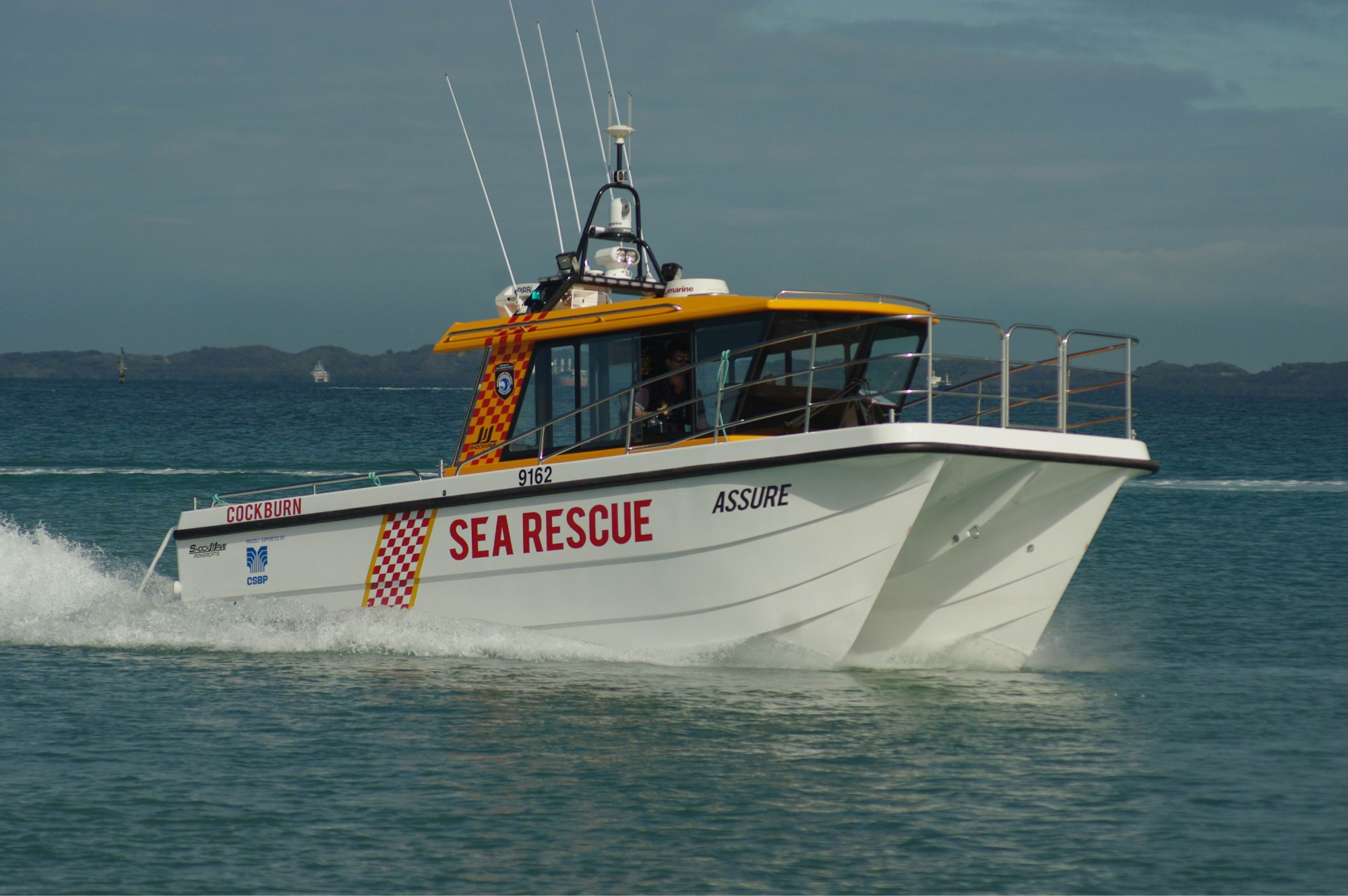 The Cockburn Volunteer Sea Search and Rescue Group's newest vessel, the Assure.
