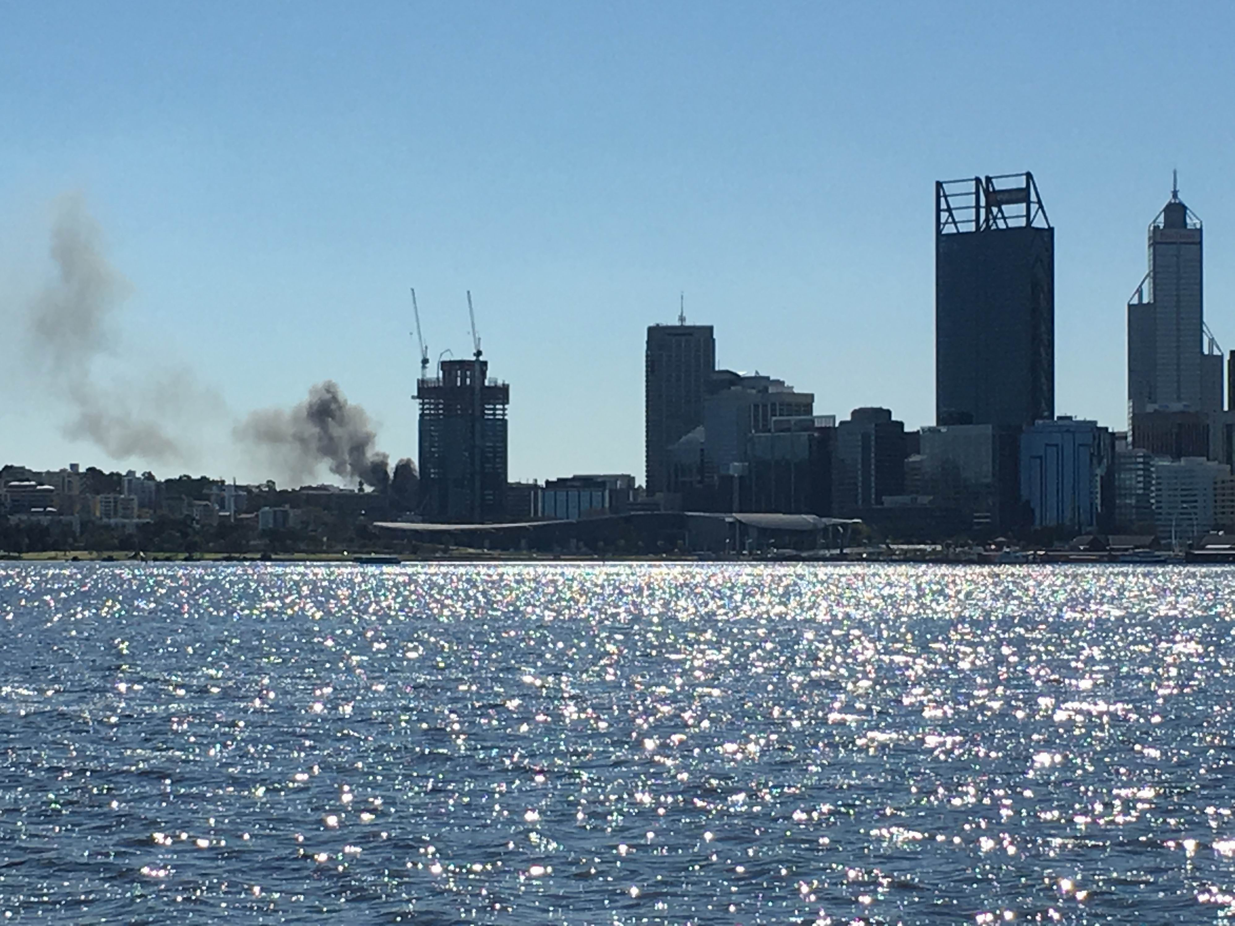 West Perth fire expected to cause closure of Wellington St