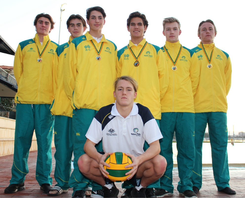 Melville Water Polo Club juniors John Hedges, Nic McMahon, Matt Quinn, Toby Muir, Hamish Blair, Cody Smith and Lachlan Benetti won gold at the Pan Pacific Youth Water Polo Festival as part of the Australian Youth Barbarians.