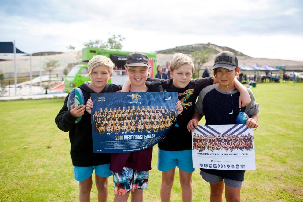 Aaron Sandilands helps launch new Eglinton playing fields