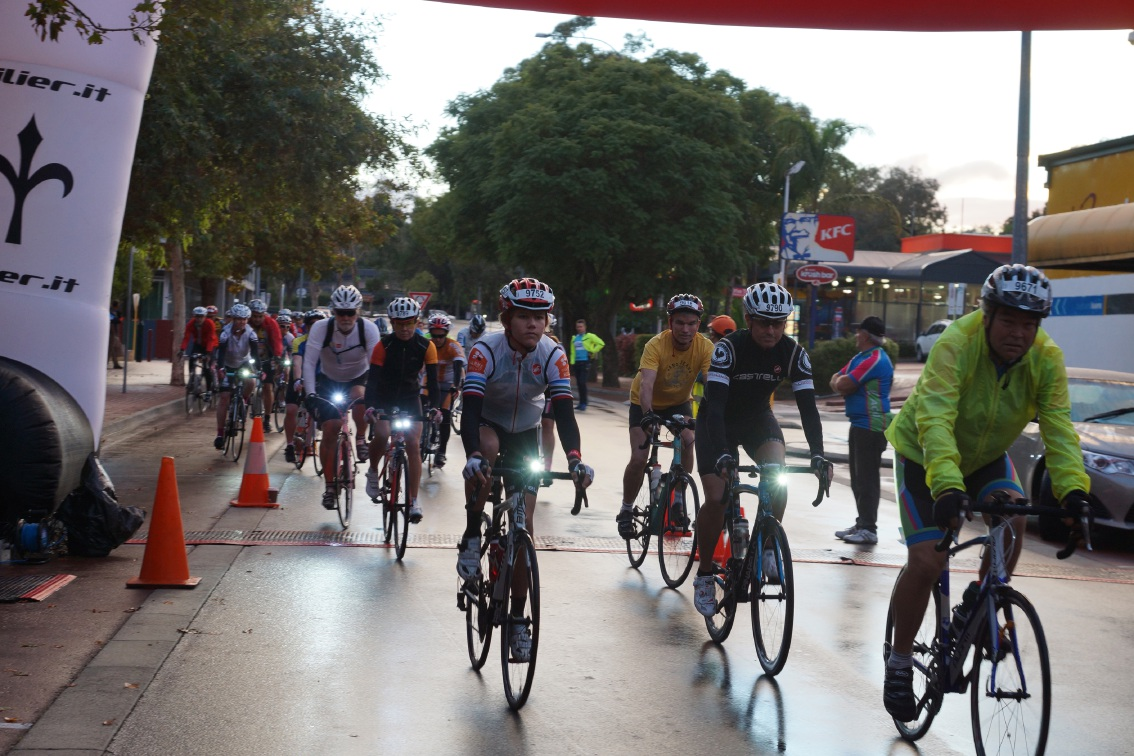 Riders set off during a Grand Fondo event in Armadale last year. This year's event will be held on Sunday at the Jull Street mall.