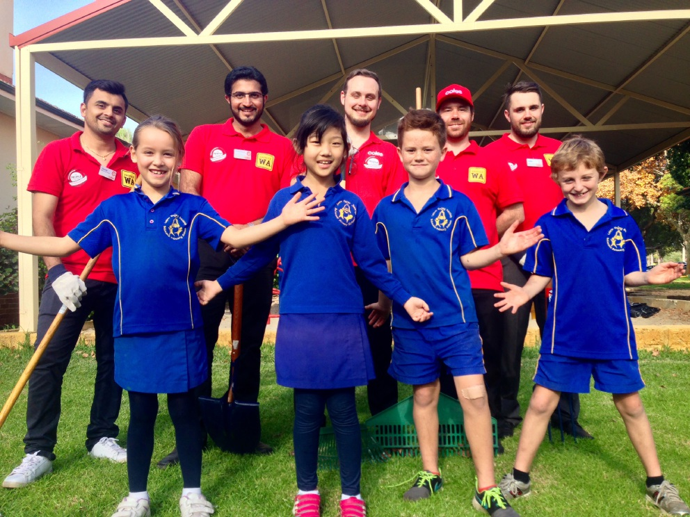 Belmont Primary School gets a makeover courtesy of some Coles volunteers