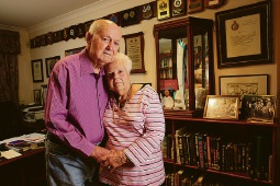 Ex-Police Commissioner Brian Bull and his wife Pat. Picture: The Sunday Times/PerthNow