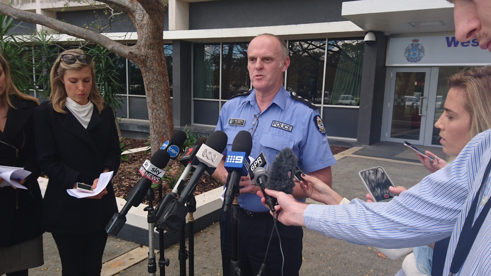 Inspector Tony Jeavons fronts the media.