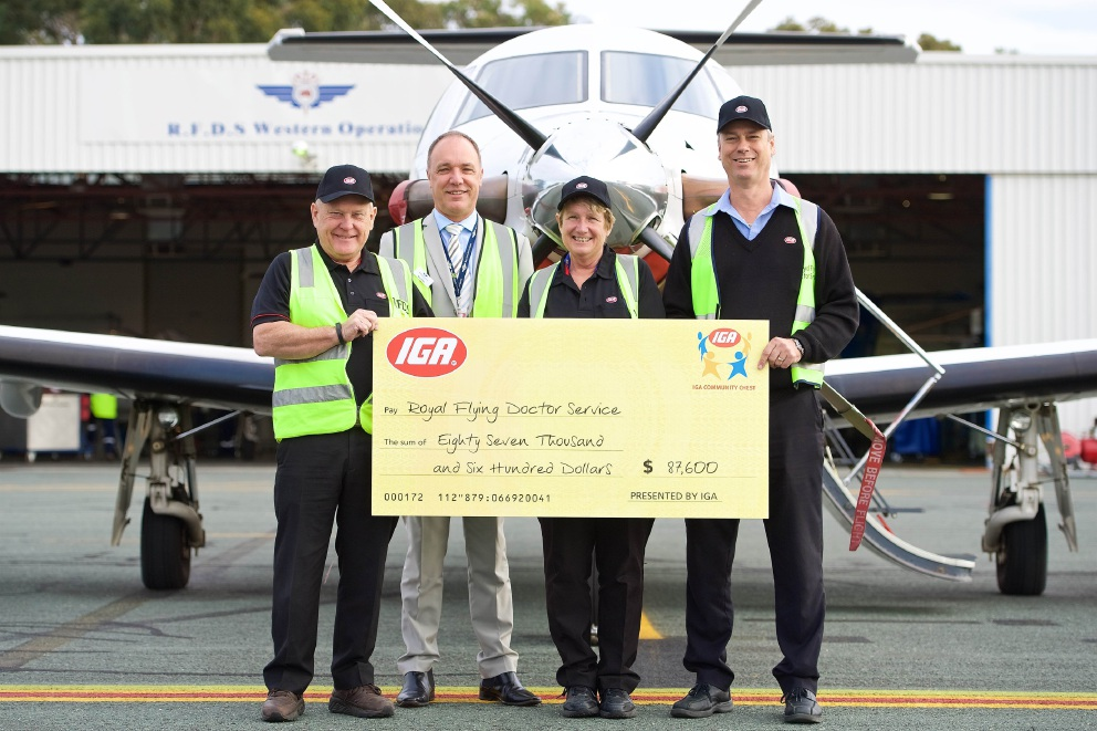 Silver Sands and Miami IGA stores contribute to $86,700 donation to Royal Flying Doctors Service