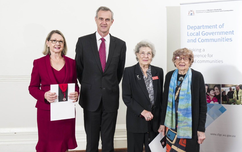 Three women honoured for their decades of volunteer service
