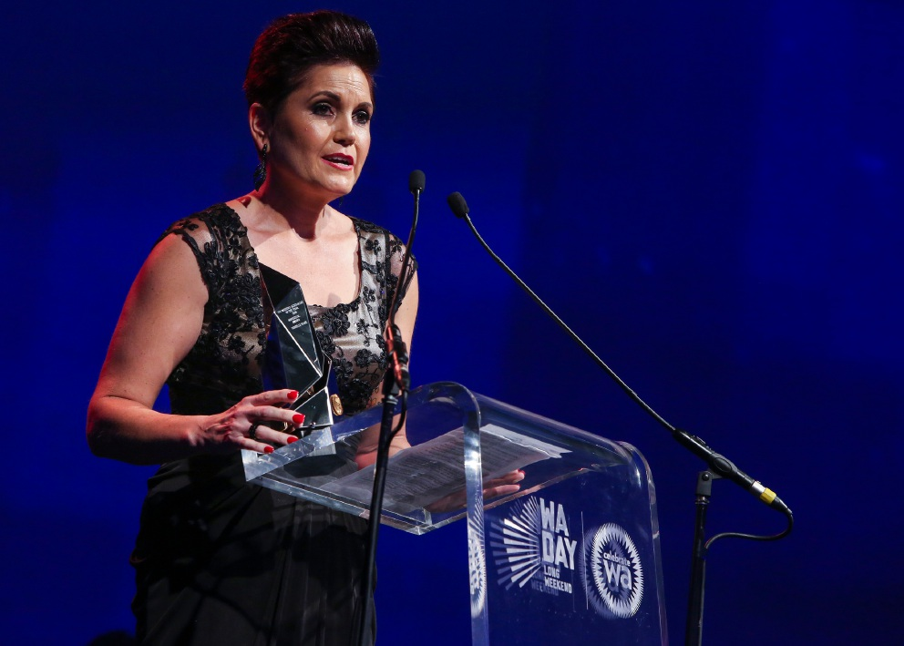 Rishelle Hume received the Aboriginal award at the Western Australian of the Year Awards.