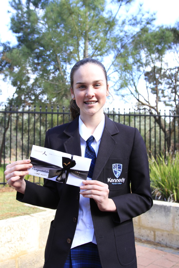 Kennedy Baptist College student Jacqueline Charlton took a leading role to raise money for Melville's Biggest Morning Tea.