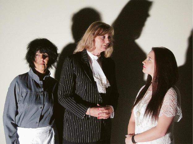 Mammy Pleasant (Linda Bickley, left), Dr Elizabeth Patterson (Kelmscott resident Anja Van Der veer) and Cicily Young (Maddington resident Kelsie Anderson) in the comedy thriller The Cat and the Canary.