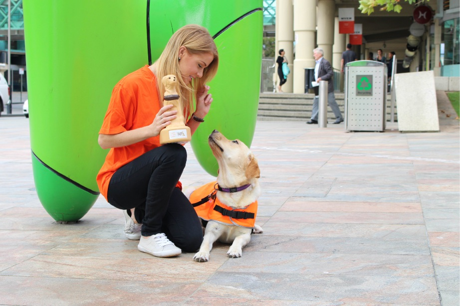 Guide Dog Luna will be among the furry helpers in Perth next week.