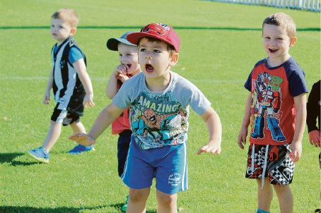 Toddlers can get a head start in AFL with the program in East Victoria Park.