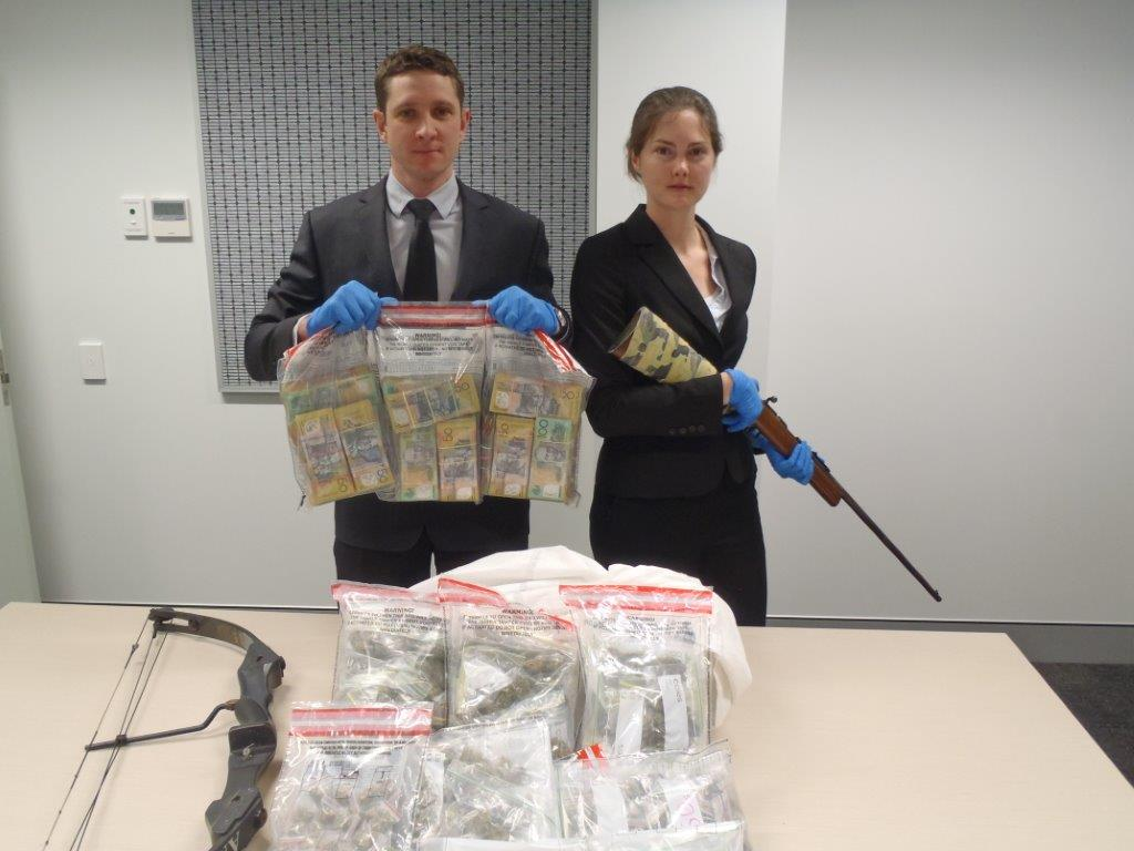 Armadale drug bust nets 4kg of cannabis, weapons and cash