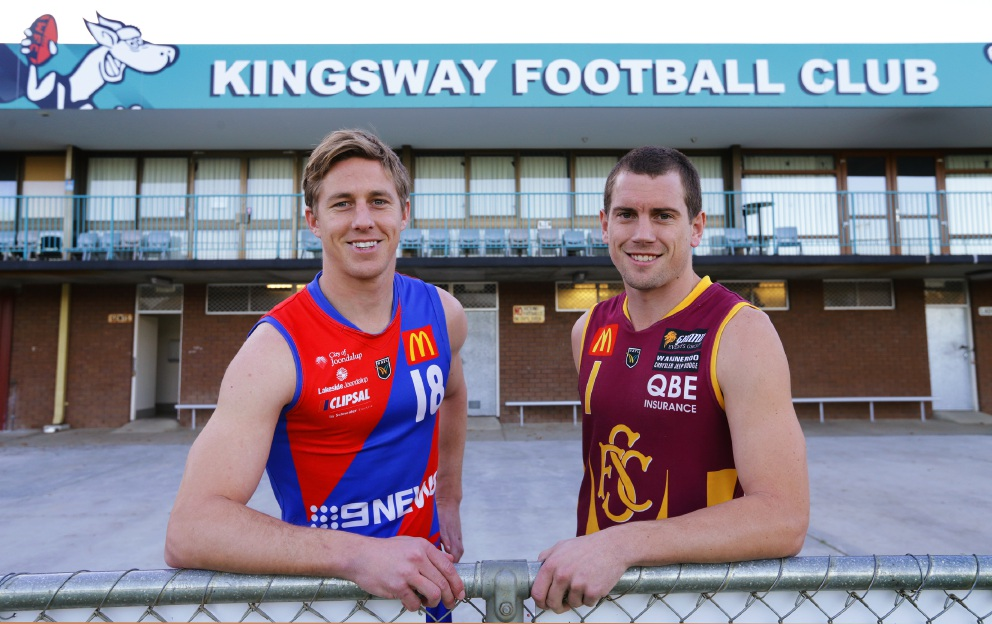 West Perth captain Jay van Berlo and his Subiaco counterpart Kyal Horsley. Picture: Martin Kennealey       www.communitypix.com.au   d457667